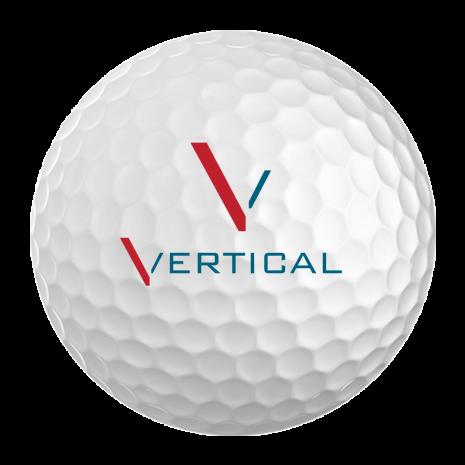 vertical golfing golf ball
